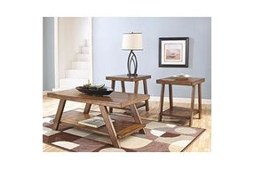 Signature Design by Ashley Bradley 3-piece Coffee Table Set- Room View