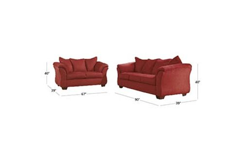Signature Design by Ashley Darcy-Salsa Sofa and Loveseat Dimensions