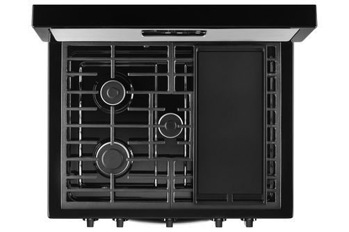 Whirlpool Stainless 5.1 Cu. Ft. Gas Range- Top View