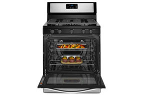 Whirlpool Stainless 5.1 Cu. Ft. Gas Range- Open View