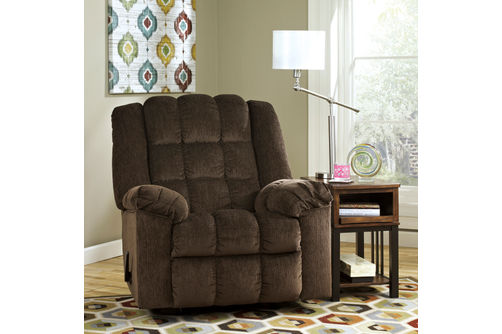 Signature Design by Ashley Ludden-Cocoa Rocker Recliner- Room View