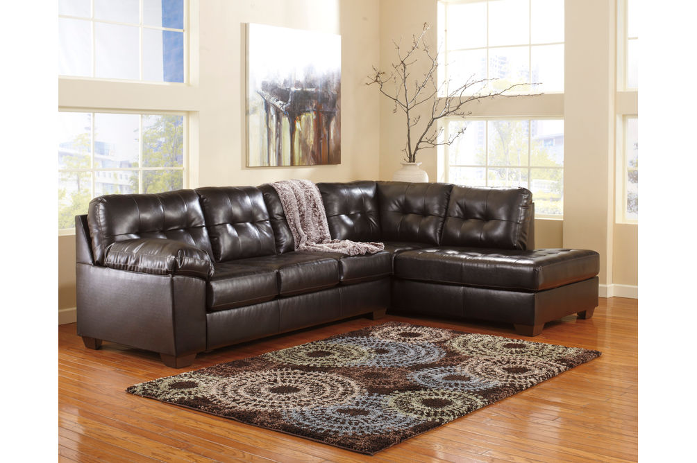 Signature Design by Ashley Alliston DuraBlend®-Chocolate 2-Piece Sectional- Room View