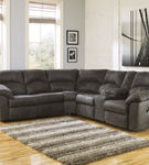 Signature Design by Ashley Tambo-Pewter 2-Piece Sectional- Room View