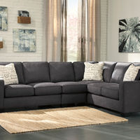 Signature Design by Ashley Alenya-Charcoal 3-Piece Sectional- Room View