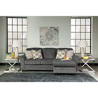 Benchcraft Braxlin-Charcoal Chaise Sofa- Room View