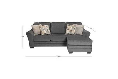 Benchcraft Braxlin-Charcoal Chaise Sofa Dimensions