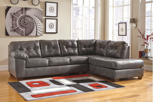 Signature Design by Ashley Alliston DuraBlend-Gray 2-Piece Sectional- Room View