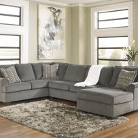 Ashley Loric-Smoke 3-Piece Sectional- Room View