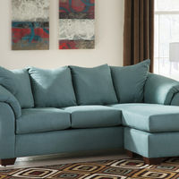 Signature Design by Ashley Darcy-Sky Sofa Chaise- Room View