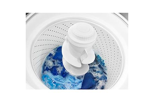 Amana® White 3.5 Cu. Ft. High Efficiency Top Load Washer- Interior View