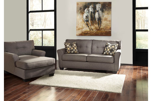 Signature Design by Ashley Tibbee-Slate Sofa and Chaise- Room View