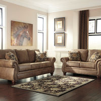 Signature Design by Ashley Larkinhurst-Earth 2-piece Sofa and Loveseat- Room View