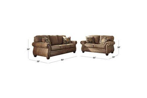 Signature Design by Ashley Larkinhurst-Earth Sofa and Loveseat Dimensions