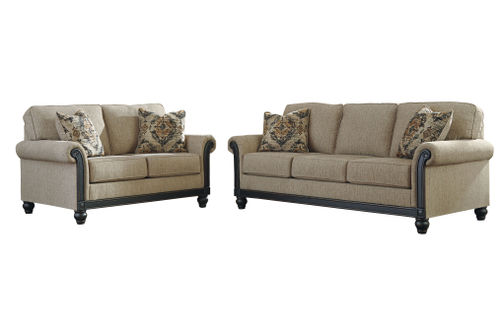 Signature Design by Ashley Blackwood-Taupe Sofa and Loveseat