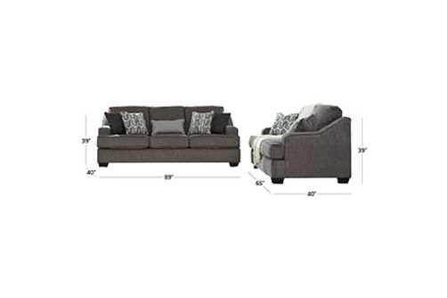Signature Design by Ashley Gilmer-Gunmetal Sofa and Loveseat Dimensions
