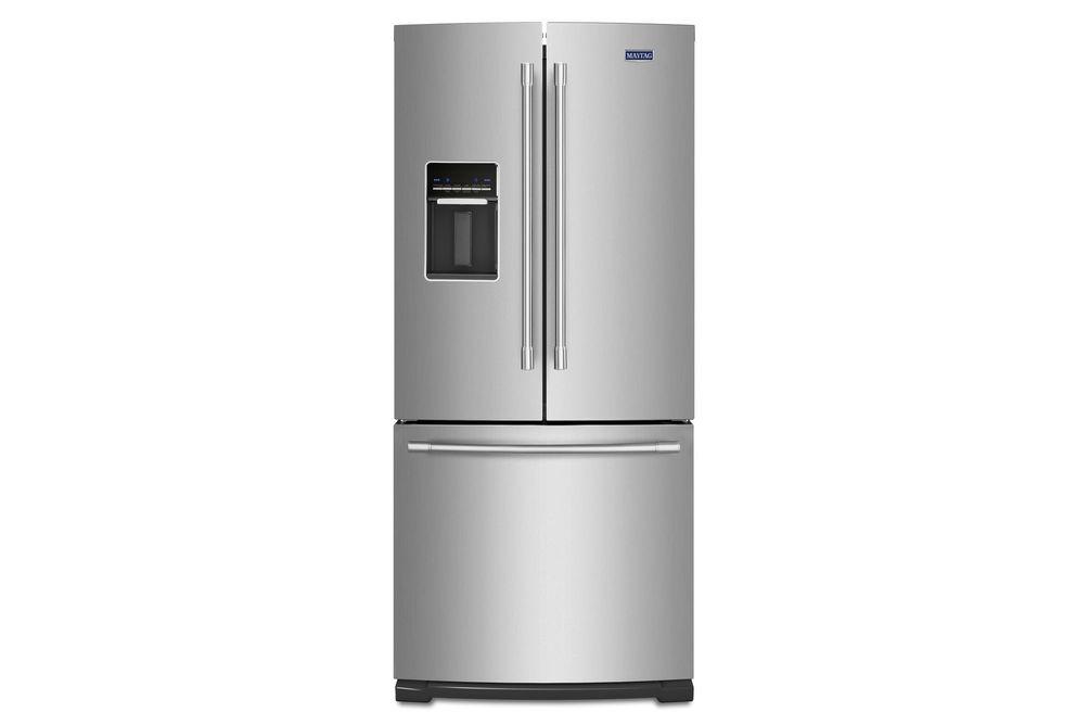梅塔格不锈钢20铜。Ft.法式门底部安装式冰箱