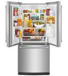 梅塔格不锈钢20铜。Ft.法式门底部安装式冰箱-开放视图