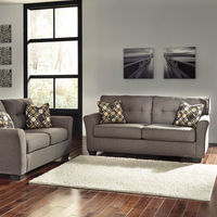 Signature Design by Ashley Tibbee-Slate Sofa and Loveseat- Room View