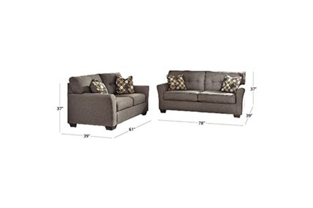Signature Design by Ashley Tibbee-Slate Sofa and Loveseat Dimensions