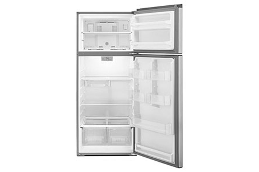 Whirlpool Stainless 18 Cu. Ft. Top-Freezer Refrigerator- Open View