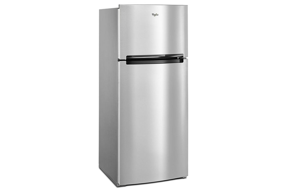 Whirlpool Stainless 18 Cu. Ft. Top-Freezer Refrigerator- Side View
