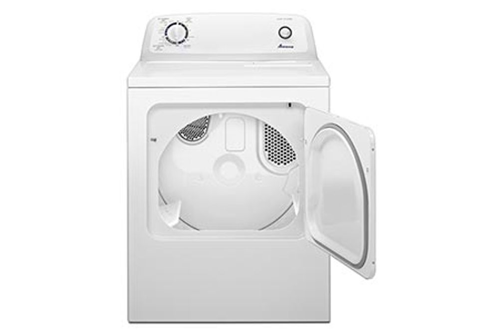 Amana 6.5 Cu. Ft. Front Load Electric Dryer Open View