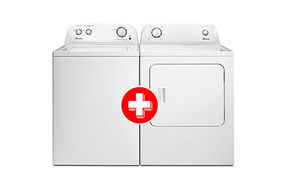 Amana 3.5 Cu. Ft. Top-Load Washer + 6.5 Cu. Ft. Front Load Electric Dryer