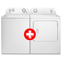 Amana 3.5 Cu. Ft. Top-Load Washer + Amana Front Loading 6.5 Cu. Ft. Gas Dryer