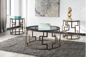 Signature Design by Ashley Frostine Coffee Table Set- Room View
