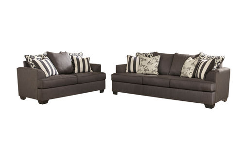 Signature Design by Ashley Levon-Charcoal Sofa and Loveseat