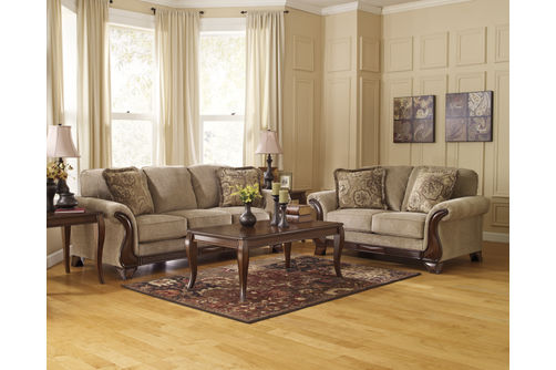 Signature Design by Ashley Lanett-Barley Sofa and Loveseat Room View
