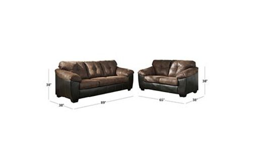 Signature Design by Ashley Gregale-Coffee Sofa and Loveseat Dimensions