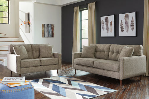 Benchcraft Dahra-Jute Sofa and Loveseat- Room View