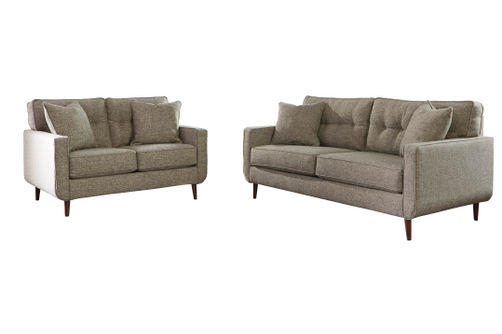 Benchcraft Dahra-Jute Sofa and Loveseat
