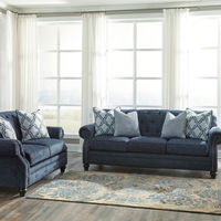 Benchcraft LaVernia-Navy Sofa and Loveseat- Room View