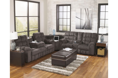 Signature Design by Ashley Acieona-Slate 3-Piece Reclining Sectional- Room View