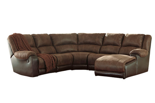 Signature Design by Ashley Nantahala-Coffee 5-Piece Sectional with Chaise