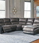 Signature Design by Ashley Nantahala-Slate 5-Piece Sectional with Chaise- Room View