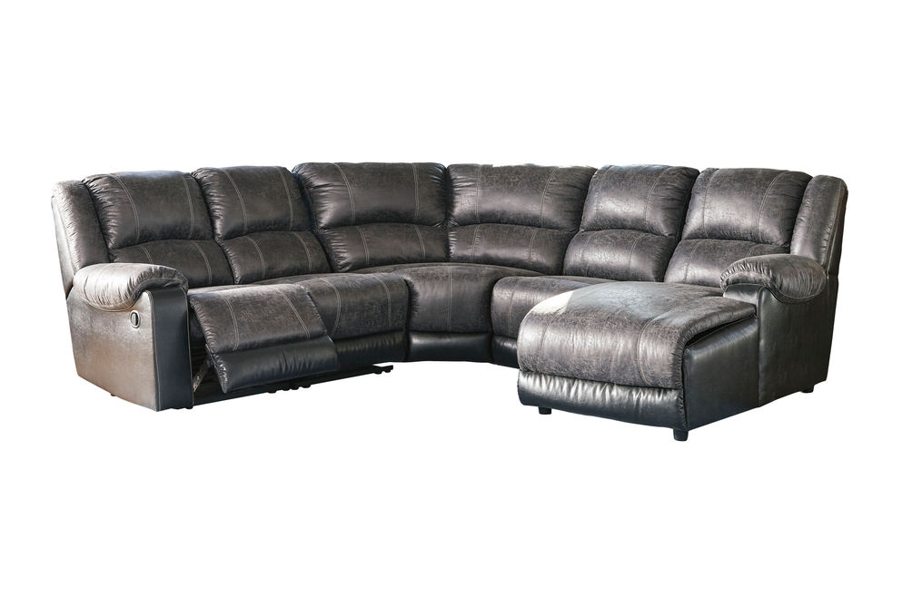 Signature Design by Ashley Nantahala-Slate 5-Piece Sectional with Chaise