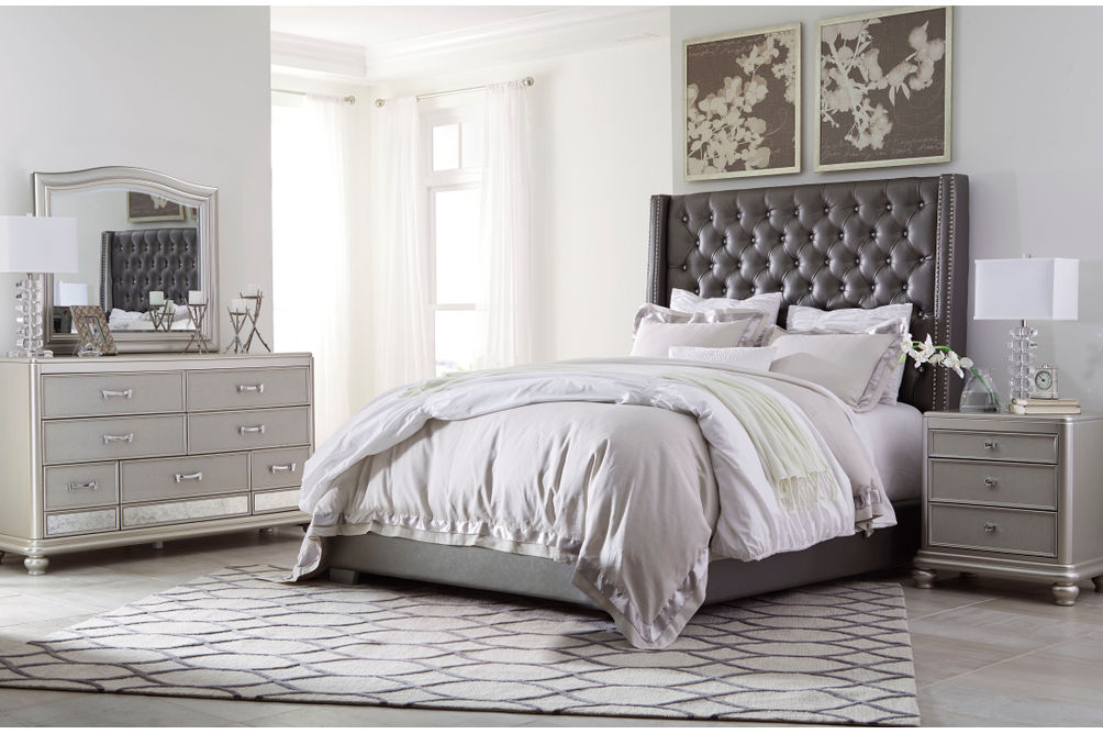 Rent Ashley Coralayne 6 Piece Queen Bedroom Set At Rent A Center