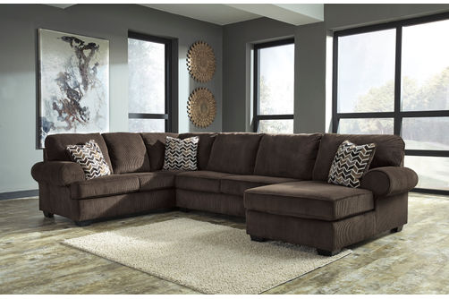 Signature Design by Ashley Bedford-Chocolate 3-Piece Sectional- Room View