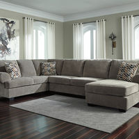 Signature Design by Ashley Bedford-Gray 3-Piece Sectional- Room View