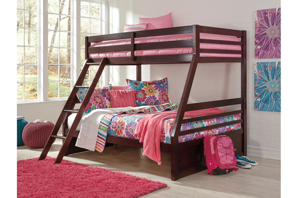 Signature Design by Ashley Halanton Twin Over Full Bunk Bed Set- Room VIew