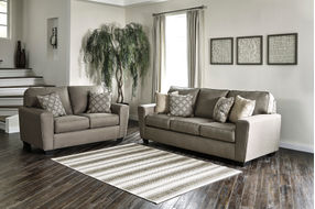 Benchcraft Calicho-Cashmere Sofa and Loveseat- Room View