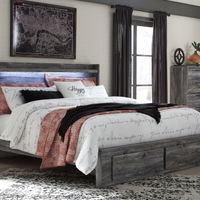 Signature Design by Ashley Baystorm 3-Piece Platform King Bedroom Set- Room View