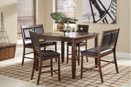 Signature Design by Ashley Meredy 5-Piece Counter Height Dining Set- Room View