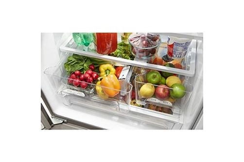Whirlpool 20 Cu. Ft. French Door Bottom Mount Refrigerator- Drawer View