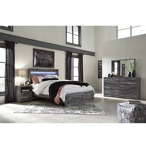 Signature Design by Ashley Baystorm 7-Piece King Bedroom Set- Room View
