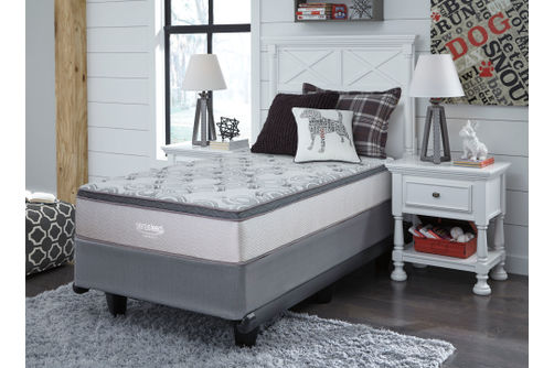 Signature Design by Ashley Augusta Euro Top Twin Mattress- Room View