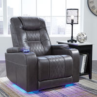 Signature Design by Ashley Composer-Gray Power Recliner- Room View